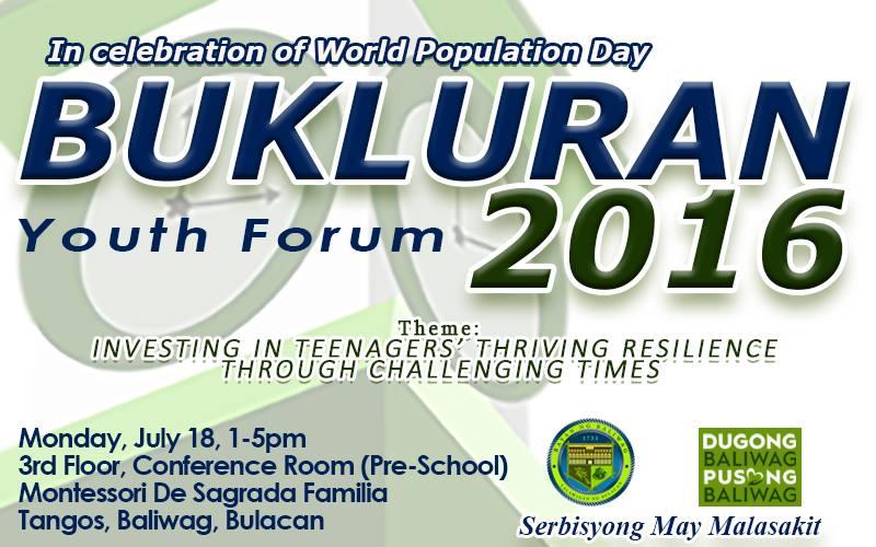 Bukluran Youth Forum 2016, idaraos sa Lunes