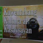 Kwentuhang Kultura at Kasaysayan