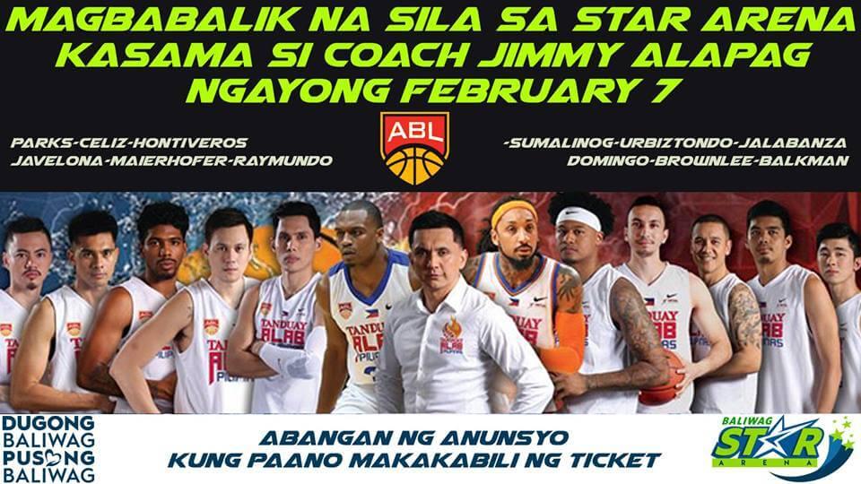 Magbabalik na sila sa Star Arena kasama si coach Jimmy Alapag ngayong february 7