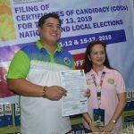 Mayor Ferdie, naghain ng COC para muling maging alkalde ng Baliwag
