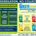 NO SEGREGATION, NO COLLECTION